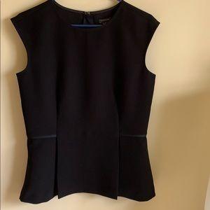 Ann Taylor Peplum Blouse, Black Size 4